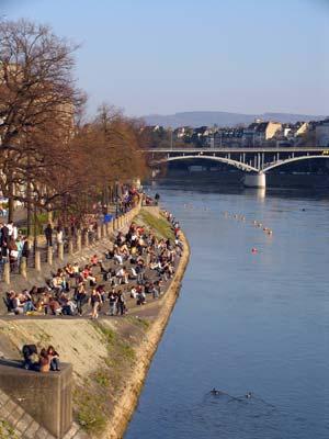 Imágenes de Suiza: 'Ribera del Rin' (Basilea)
